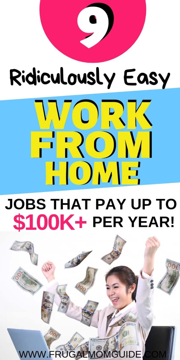 work from home jobs pin