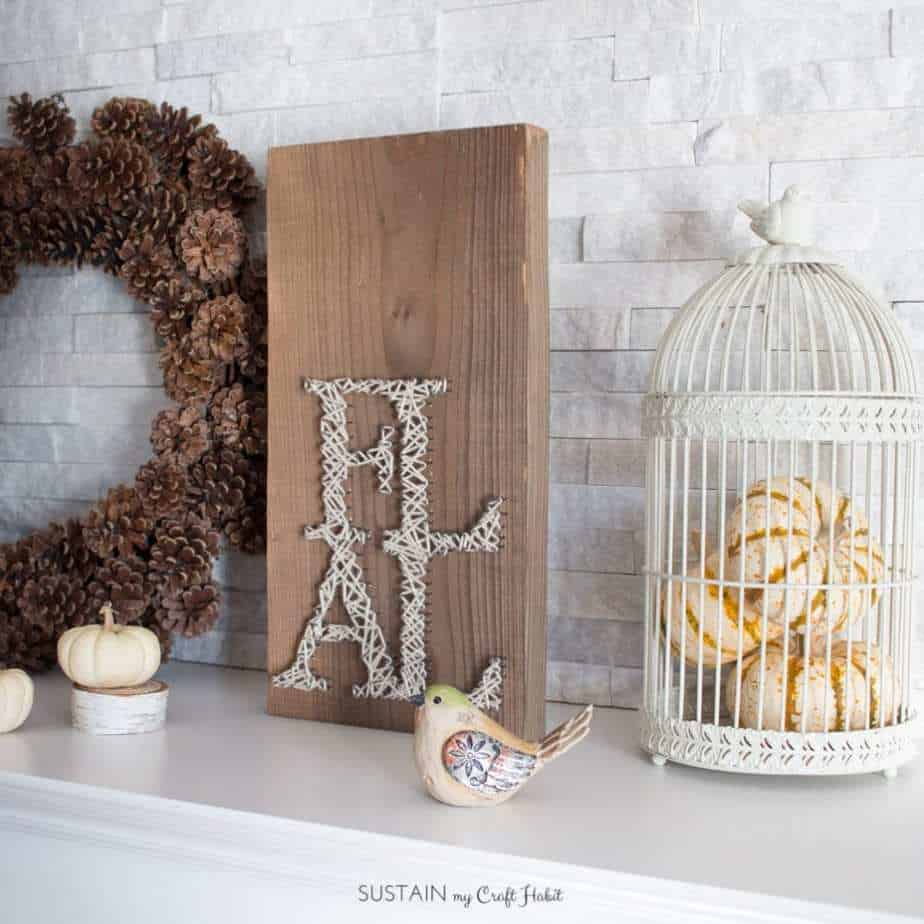 DIY Fall Decor Projects - Fall String Art