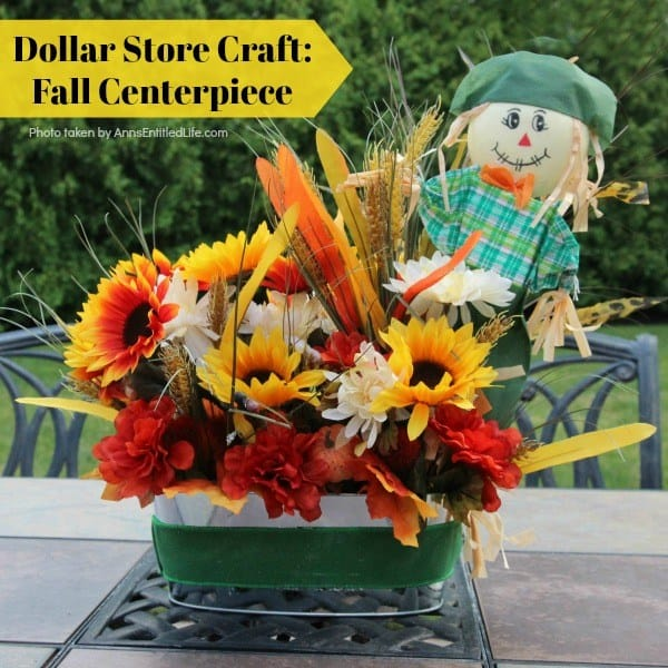 DIY Fall Decor Projects - Dollar Tree Fall Centerpiece