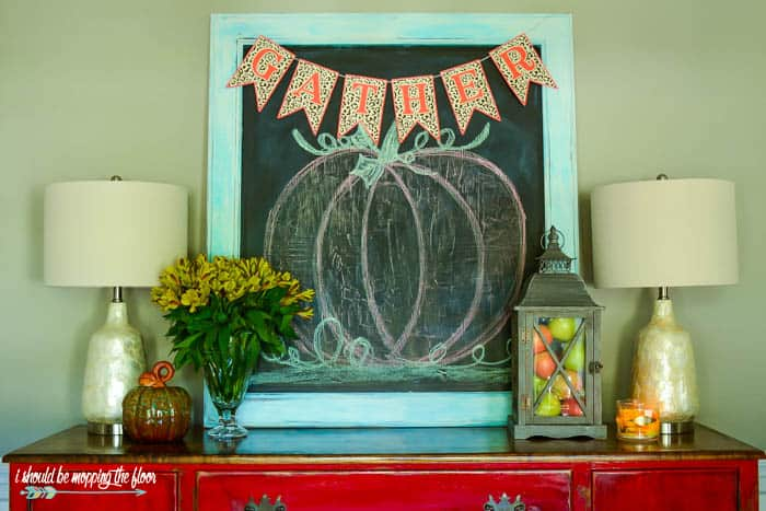 DIY Fall Decor Projects - Leopard Print Fall Banner