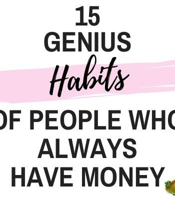habits of people who always have money feature