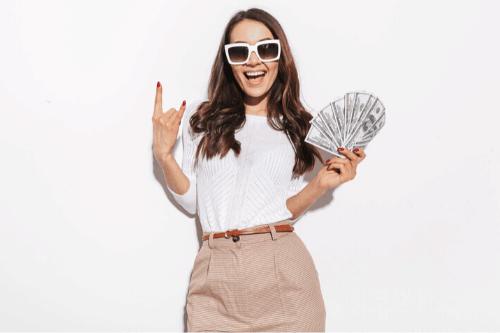 vrouwen houden geld over - hoeveel is 7 cijfers