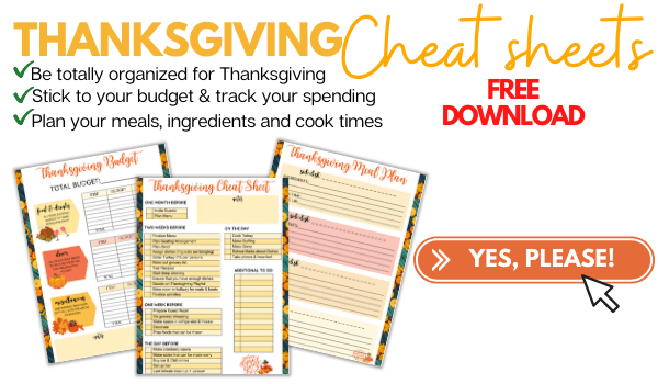 free thanksgiving cheat sheets to download