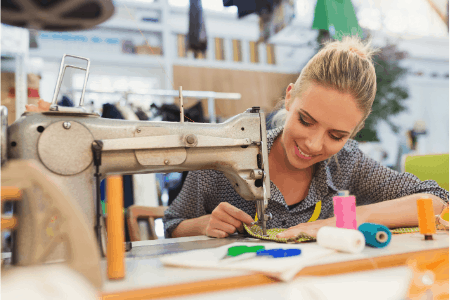 woman sewing - cash jobs