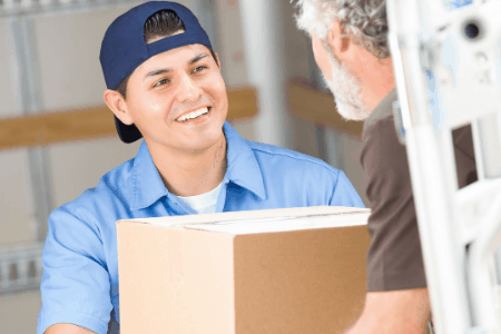 man delivering package - jobs that pay cash